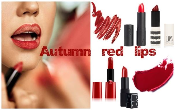 Autumn red lips