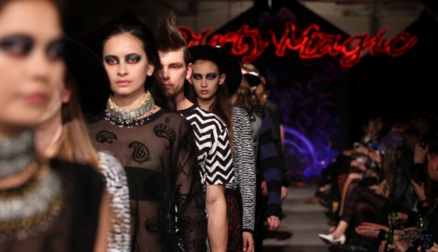 Models showcase designs by Stolen Girfriends Club on the runway during New Zealand Fashion Week (Source: Getty)