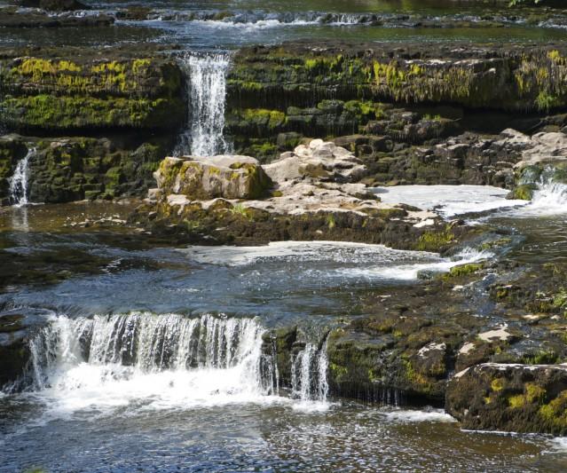 Waterfall taken at Aysgarth Falls in North Yorkshire, England, UK