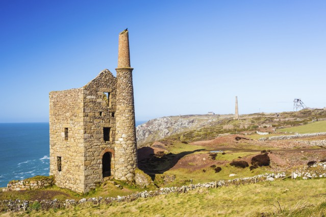 Wheal Owles at Botallack used as the filming location of the ficticious Wheal Leisure in the 2015 TV series Poldark